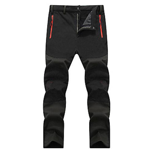Men's Hiking Pants Softshell Pants Winter Outdoor Waterproof Windproof Breathabl