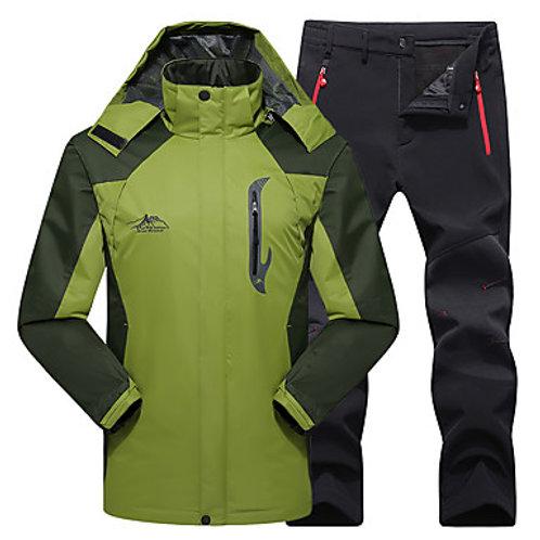 Men's Hiking Jacket with Pants Winter Outdoor Thermal / Warm Waterproof Windproo