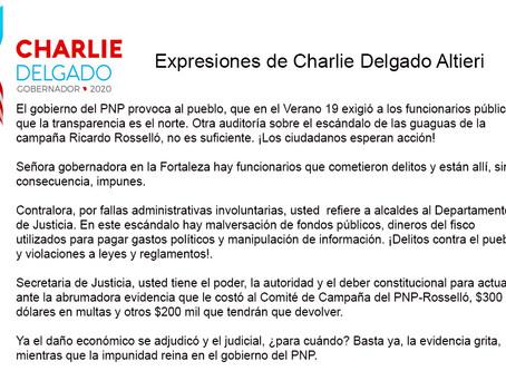 EXPRESIONES DE CHARLIE DELGADO ALTIERI SOBRE LA AUDITORIA A LA FORTALEZA