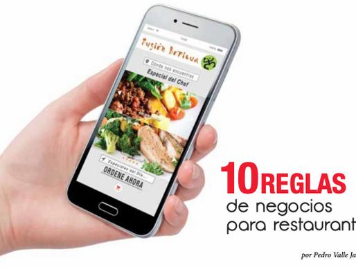 10 REGLAS  de negocios  para restaurantes