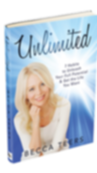 Book cover- Unlimited; 7 Habits to Unleash Your Full Potential & Get the Life You Want- Becca Teers