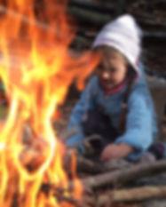 Waldspielgruppe Pimpinella Feuer machen und kochen