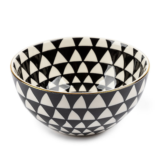Black&White Medallion Bowl