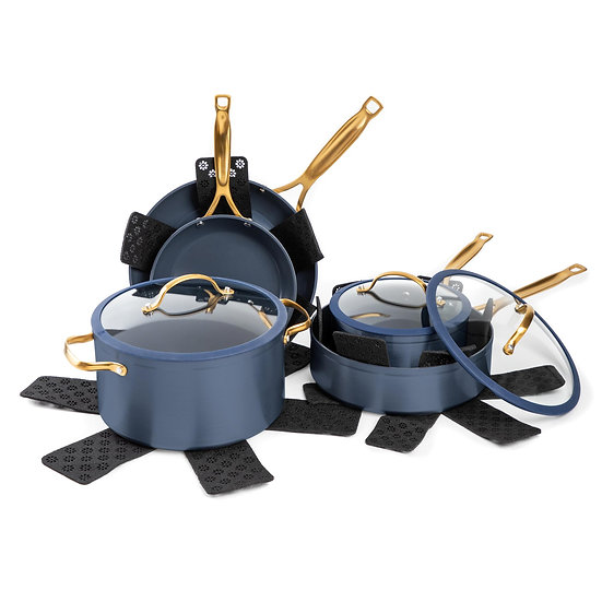 12 Piece Blue Cookware Set