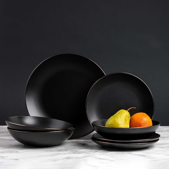 12 PC Onyx Dinnerware Set