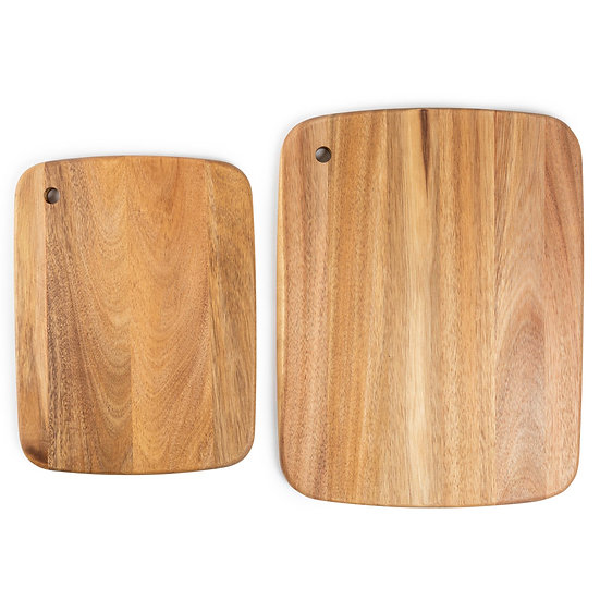 Acacia Wood Cutting Boards 2PK