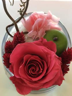 rosa liofilizada cabeza cristal