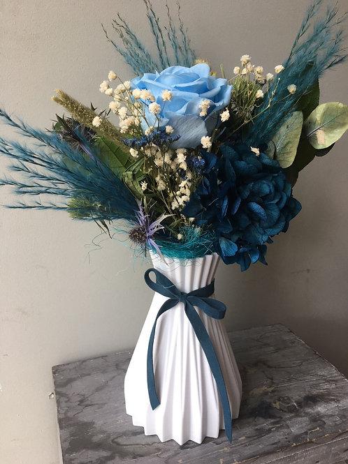 Flor preservada azules