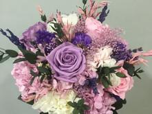ramo de novia liofilizado rosas moradas