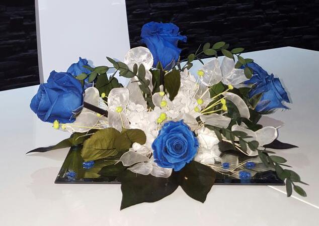 Centro liofilizado azul y bl