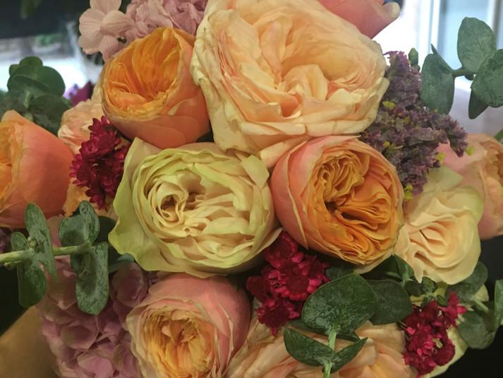 ramo de novia rosa austin inglesa y hort