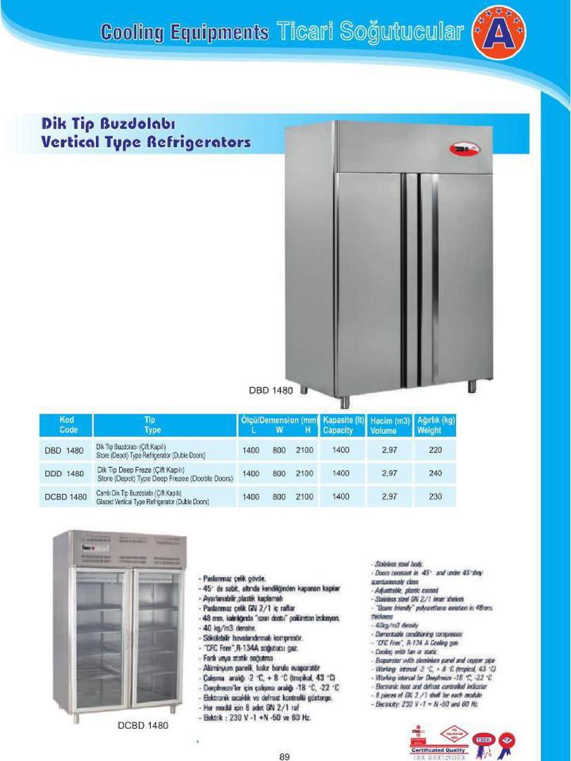 Çift Kapılı Dik Tip Buzdolabı