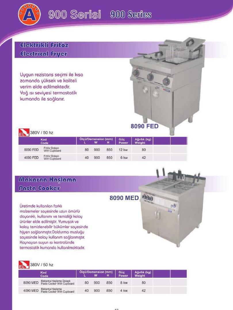 900 Seri Elektrikli Fritöz/ Elektrikli Makarna Haşlama