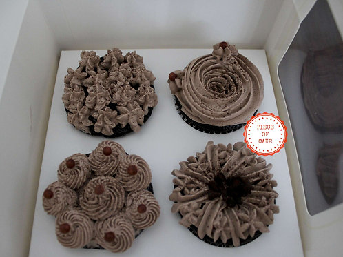 Chocolate Cup Cake (Set of 4)