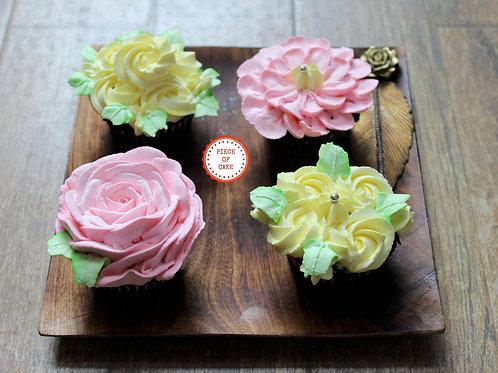 Designer Cupcakes (Set of 4)