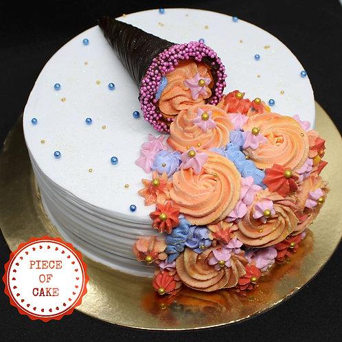 Flower Cone Designer Cake