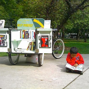 A bicycle built for books