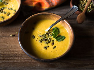 Pumpkin Soup and Garnish