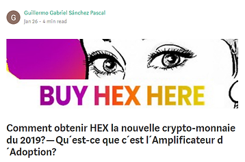 Blog web - Comment obtenir HEX, la nouve