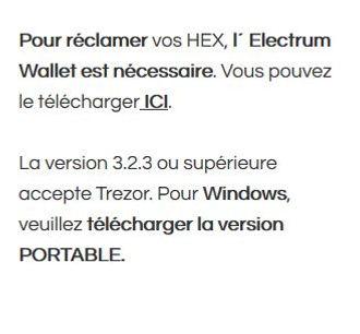 TREZOR F (1) tutoriel reclamer mon hex g