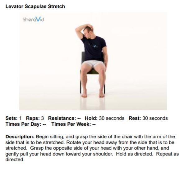Levator Scapulae Stretch