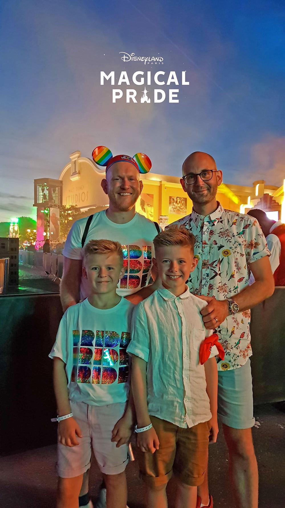 Daddy & Dad at Magical Pride at Disneyland Paris