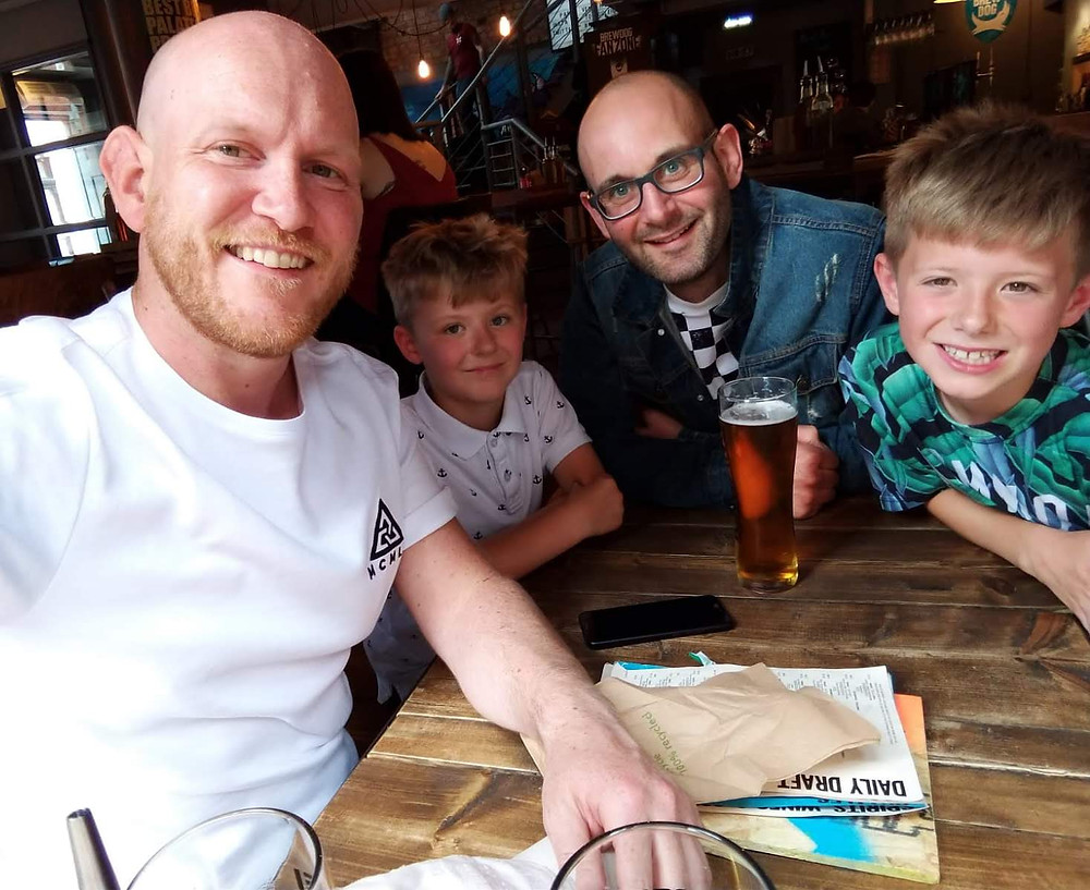 The Daddy & Dad family, almost five years on!