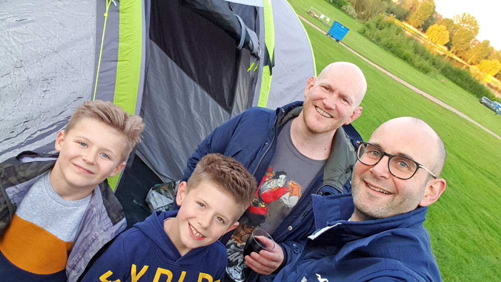 Daddy & Dad - Happy campers at Wicksteed Park!