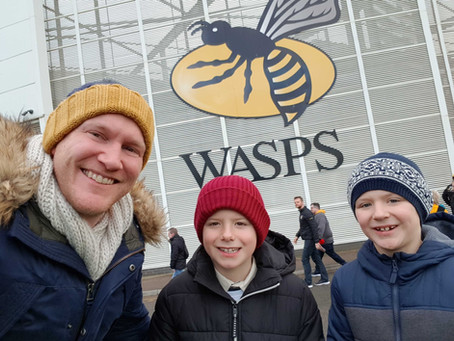 Daddy & Dad at Wasps Rugby