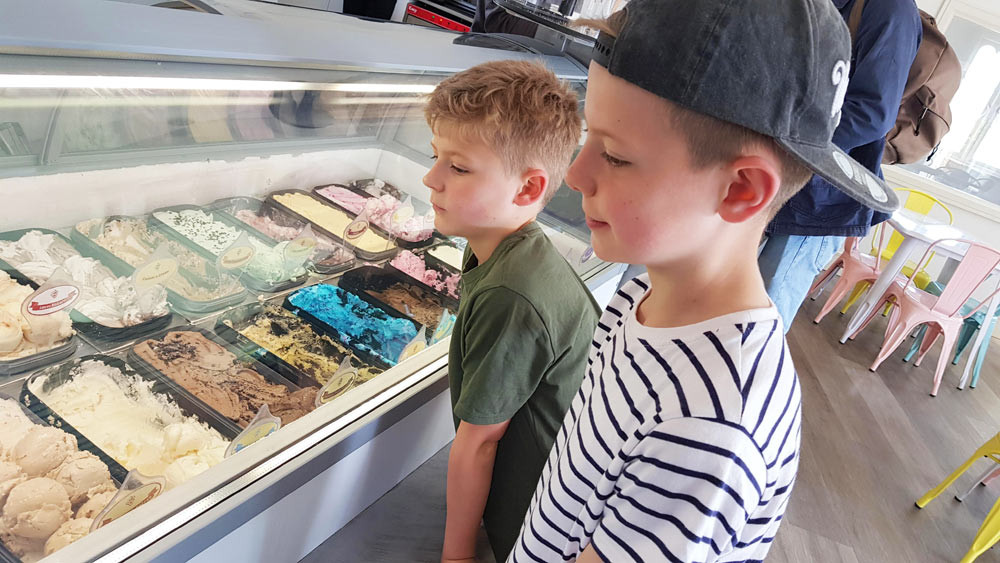 Daddy & Dad - The Ice Cream Parlour at Wicksteed Park is unmissable!