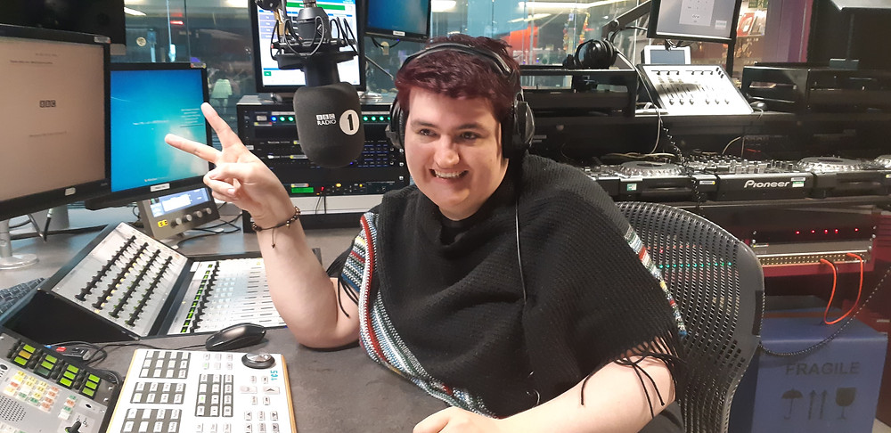 Jacob Edward made history as BBC Radio One's first non-binary presenter