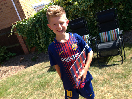 Lyall stars in his very own FC Barcelona storybook!
