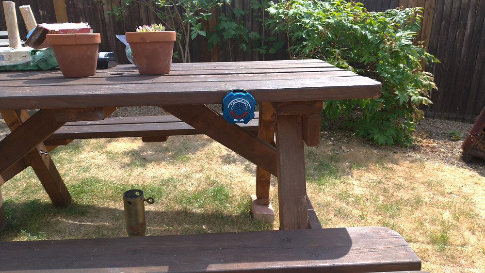 Daddy & Dad - The latest Lazer M.A.D. addition to our picnic table!