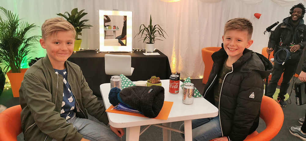 Rich and Lyall in the green room at SLIMEFEST 2019