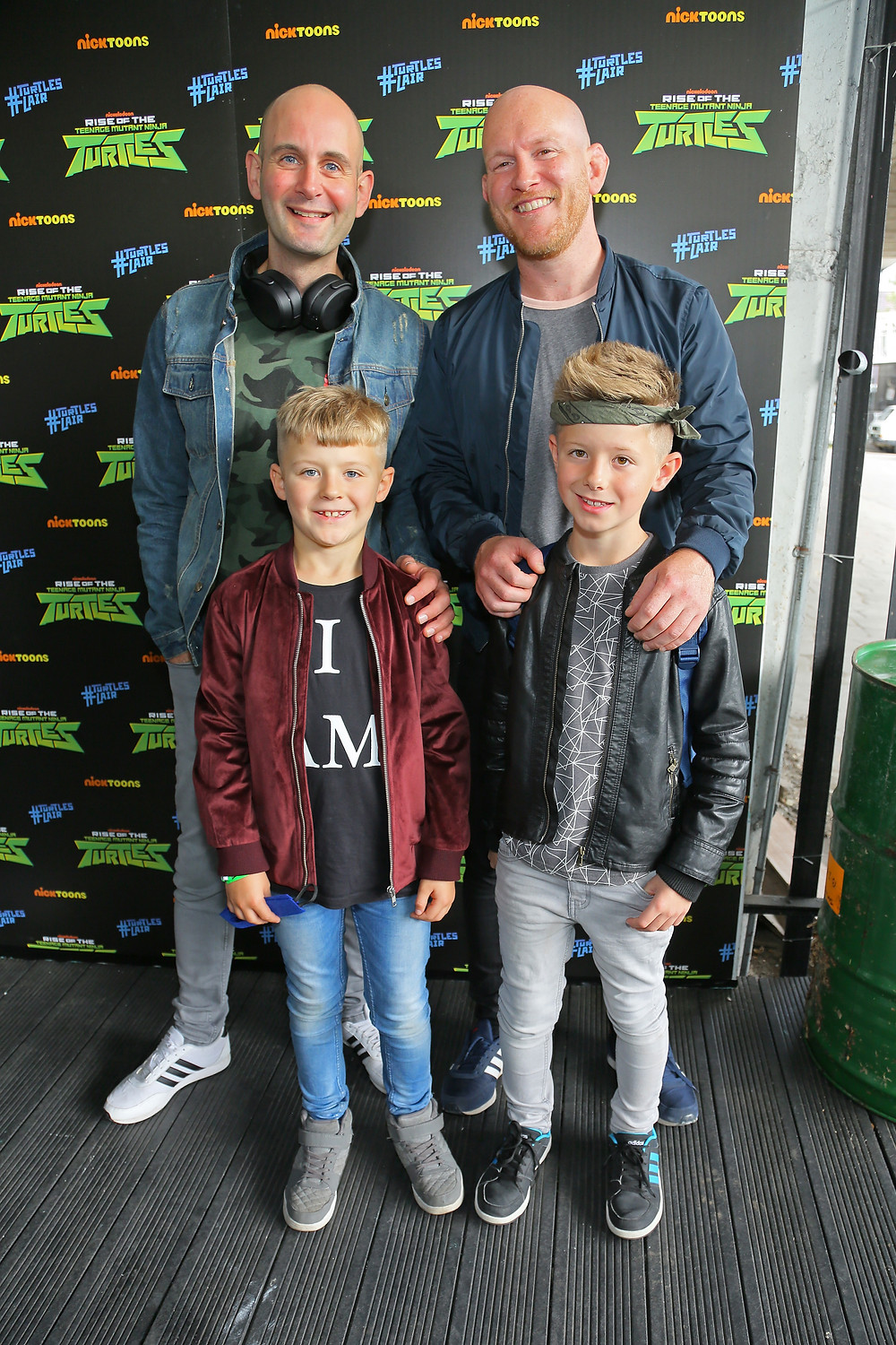 Daddy & Dad, Lyall & Richard at The Rise of the Teenage Mutant Ninja Turtles launch