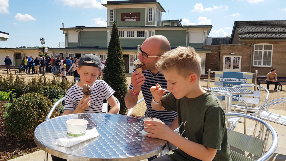 The Main Street at Wicksteed Park provides a great first impression