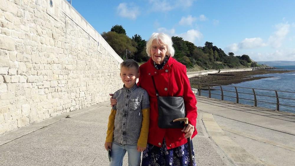 Richard and Grandma Great September 2017