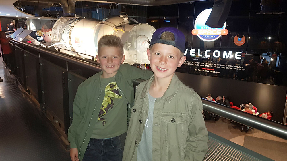 Daddy & Dad | Richard and Lyall at the National Space Centre, UK