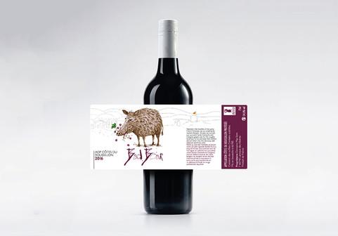 Bad Boar Wine label