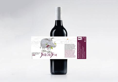 Bad Old Boar wine label