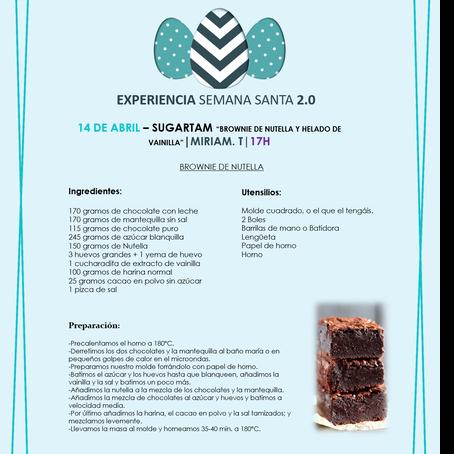 """SUGARTAM """"BROWNIE DE NUTELLA Y HELADO DE VAINILLA""""(Miriam Tamarit)"""