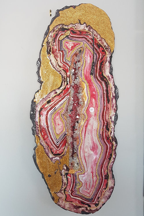 Red Wall Geode