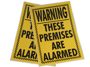'These Premises Are Alarmed'  Sticker