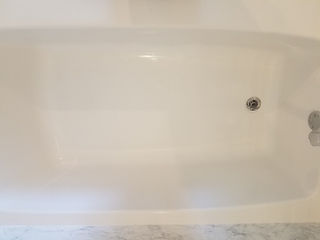 Bathtub after hole repair