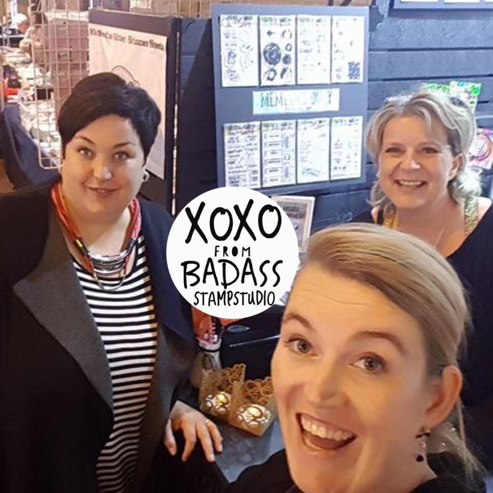 Marlene Meijer-van Niekerk, Esther Glass and Marieke Blokland from Badass StampStudio