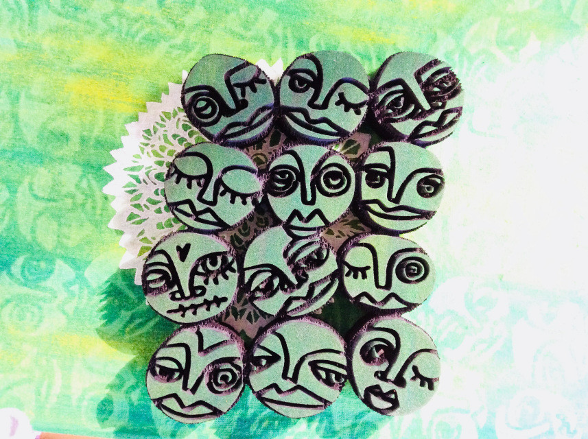 funky faces artfoamies