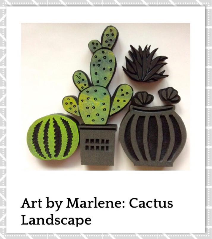 Cactus Landscape Artfoamies, designed by Art by Marlene