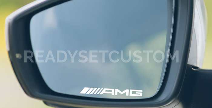 3x AMG Wing Mirror Decals