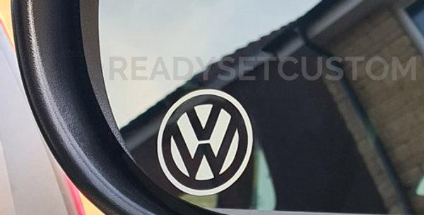 3x VW Logo Wing Mirror Decals