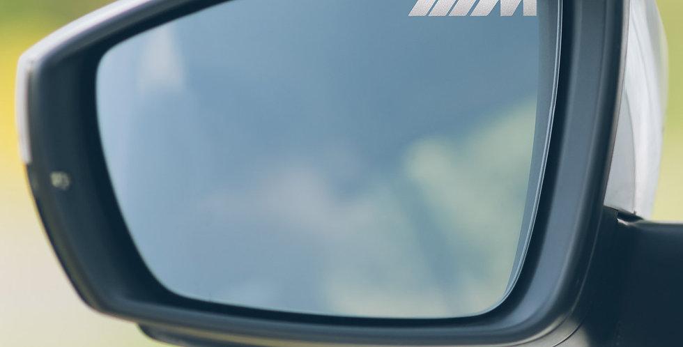 3x BMW M Wing Mirror Decals